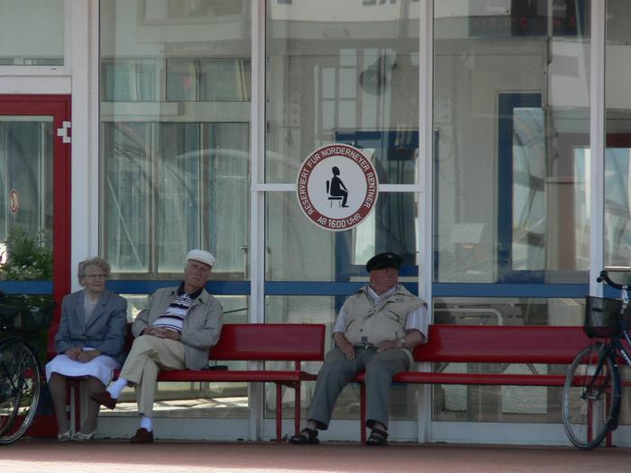 Rentnerbank auf Norderney