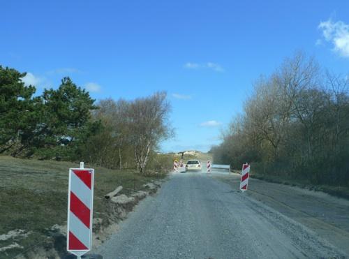 Strassenbau am Leuchtturm von Norderney