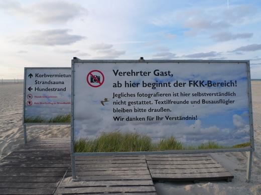 Anfang vom FKK Strand auf Norderney