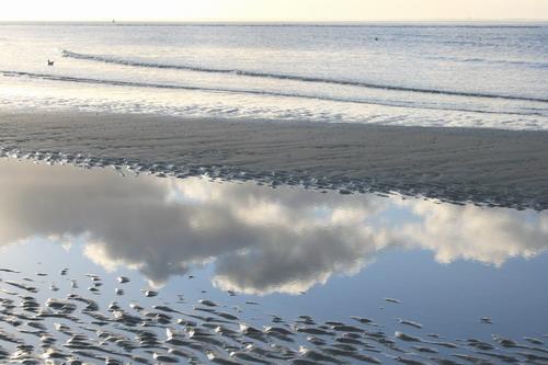 Norderney Spiegelung am Strand
