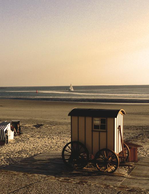 Badekarren am Weststrand von Norderney