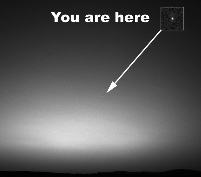Norderney: Erde vom Mars aus gesehen
