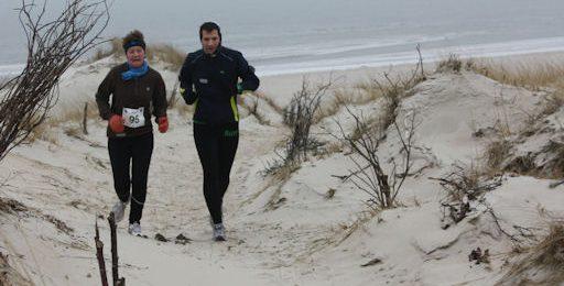 Laufen am Strand von Norderney