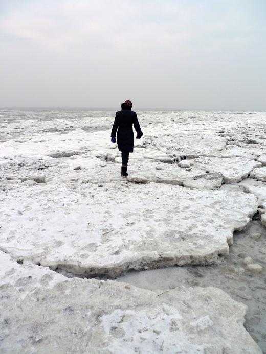 Norderney - Eisscholen am Ostbad