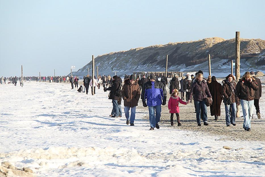 Norderney Silvester Spaziergang zur Weißen Düne
