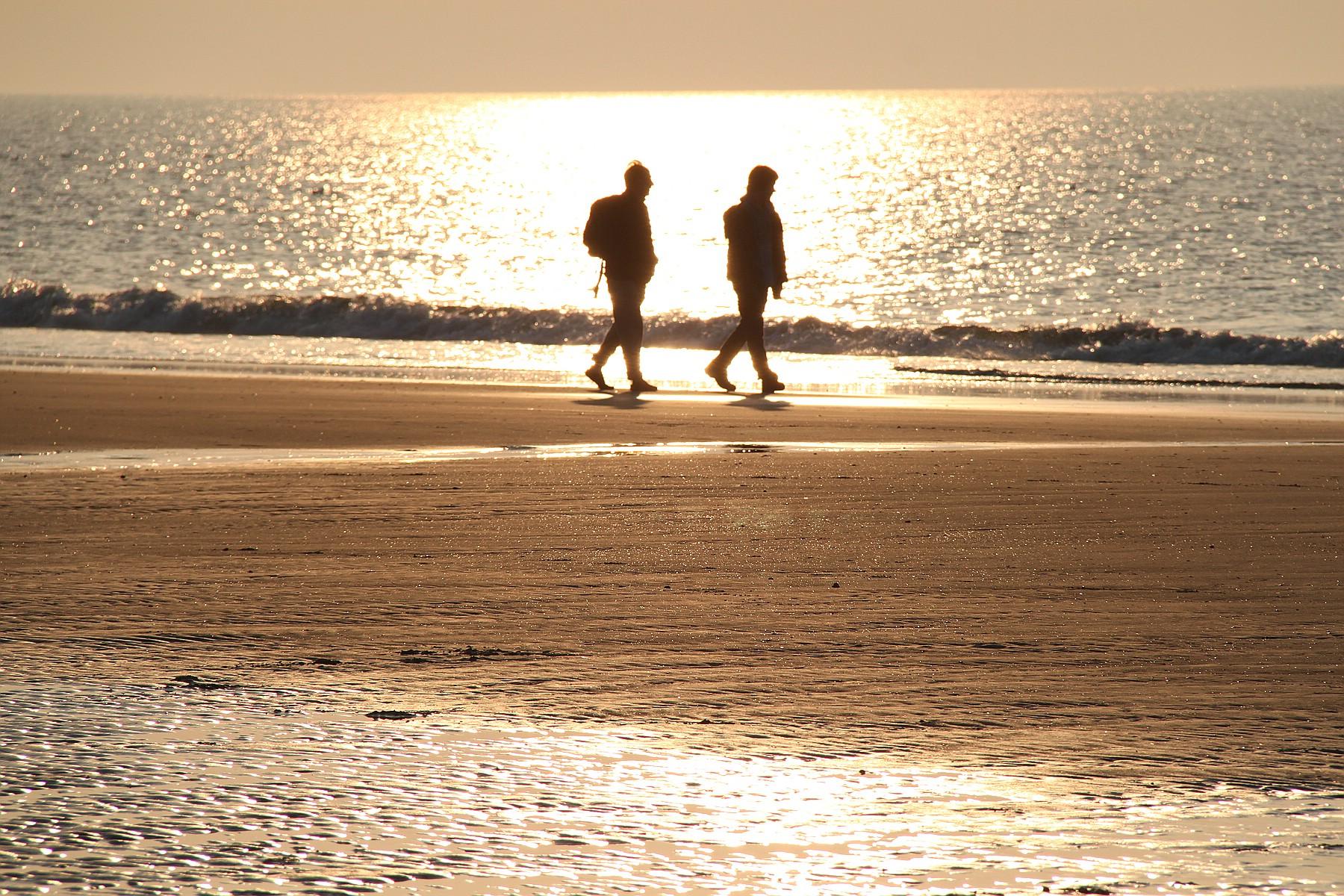 Goldener Herbst am Strand von Norderney
