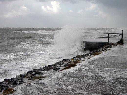 Norderney Winter Sturmflut Wellen