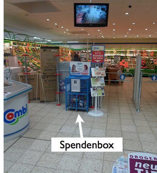 spendenbox tierheim