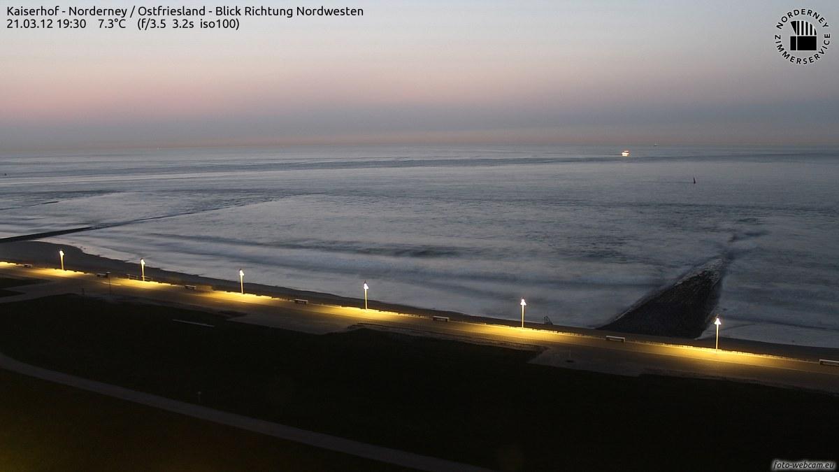 Sonnenuntergang Norderney 19.30