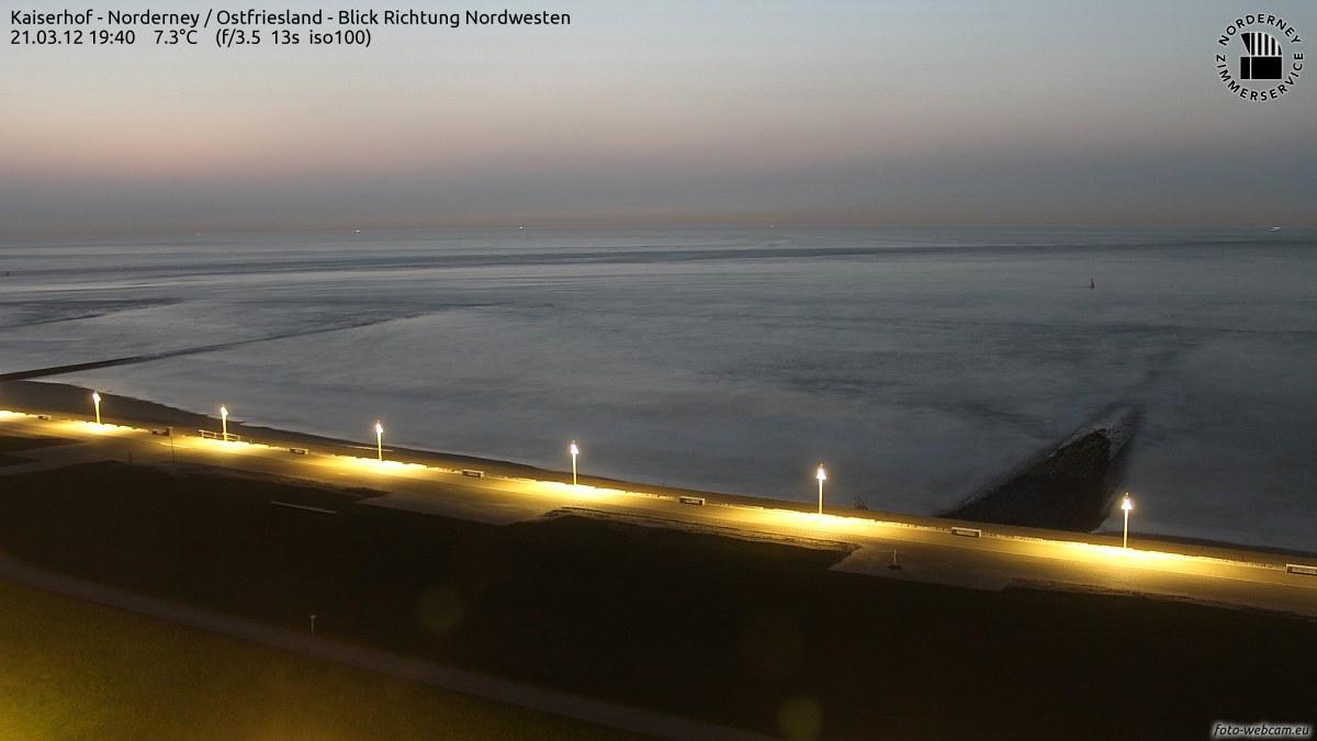Sonnenuntergang Norderney 19.40