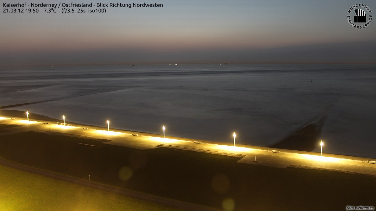 Sonnenuntergang Norderney 19.50