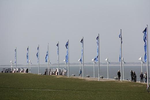 Die Strandpromenade: Ein Streckenabschnitt der Etappe Norderney
