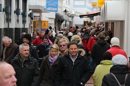 Norderney Strandstraße Ostern 2012