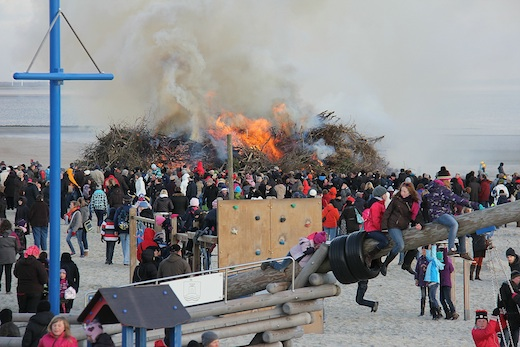 Osterfeuer Norderney 2012 2