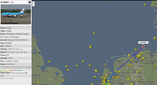747 über Norderney