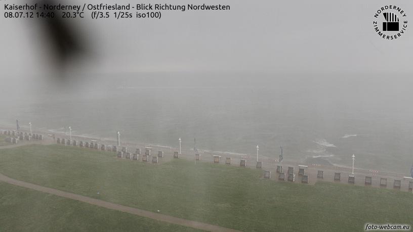 Starkregen auf Norderney