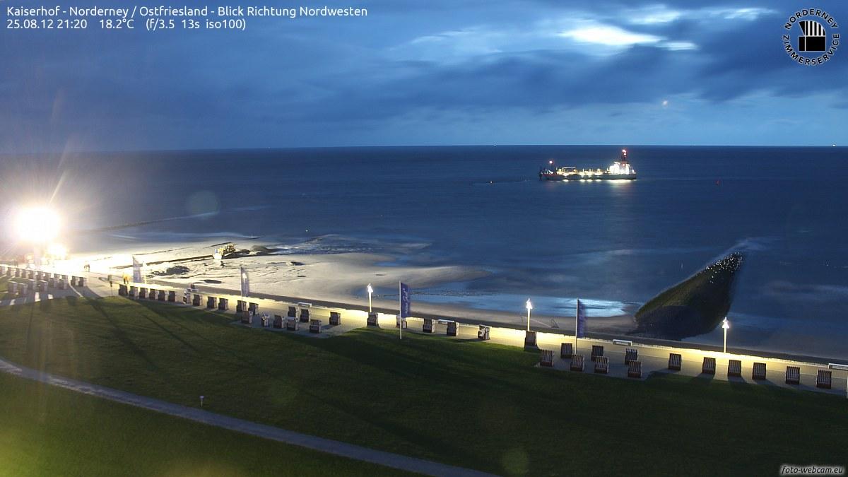 Nachtarbeit Norderney Sandaufspülung