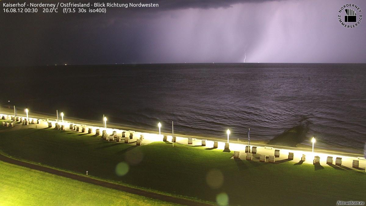 Gewitter Norderney 2012/1