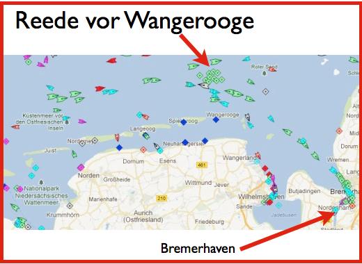 Norderney - Reede vor Wangerooge