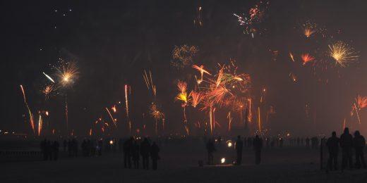 Feuerwerk am Strand - Norderney