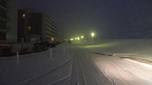 Norderney Kaiserwiese mit Schnee