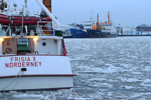 Norderney im Schnee Eisgang Norderney Winter 11/12