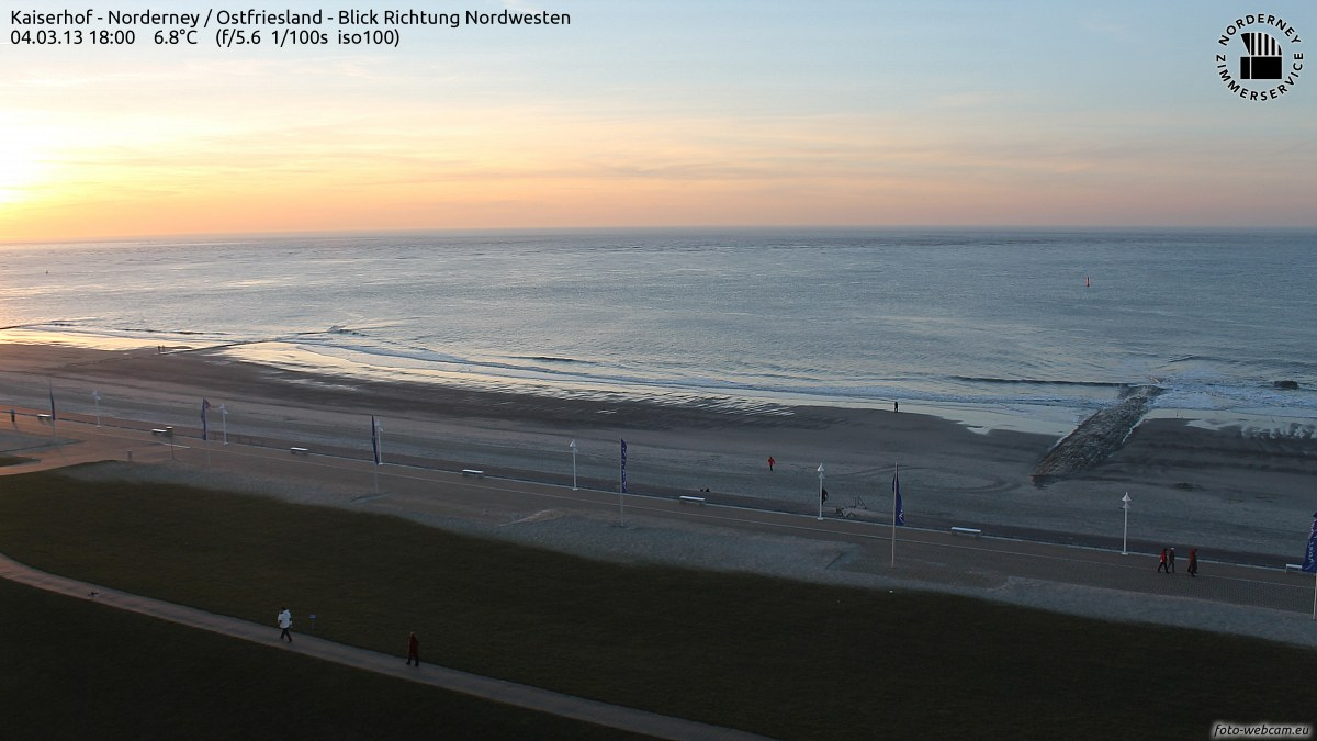 Norderney - Sonnenuntergang im Bild