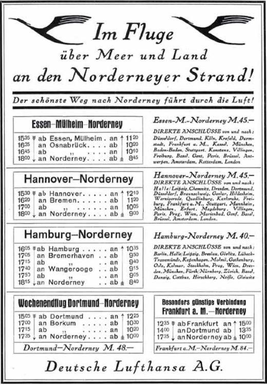 Flugverkehr - Norderney