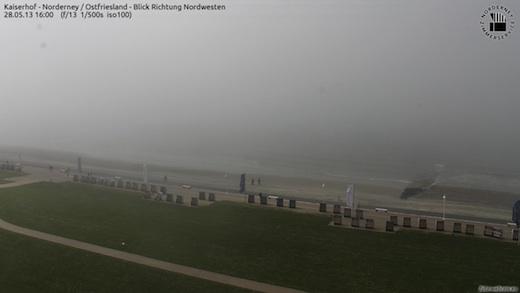 Norderney Seenebel um 16:00 Uhr (10°C)