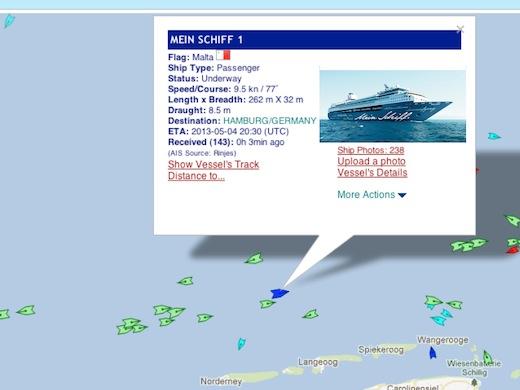 Mein Schiff vor Norderney