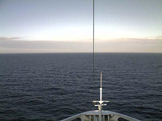 Blick vom Deck vor Norderney