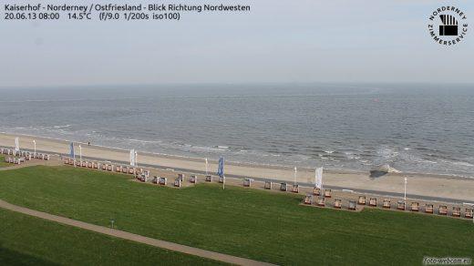 Norderney am Morgen - 14° Celsius und Wind aus Nord