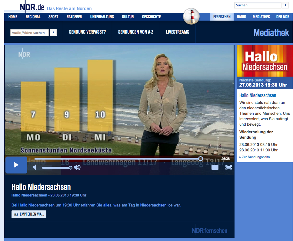 Norderney Wetter am Sonntag