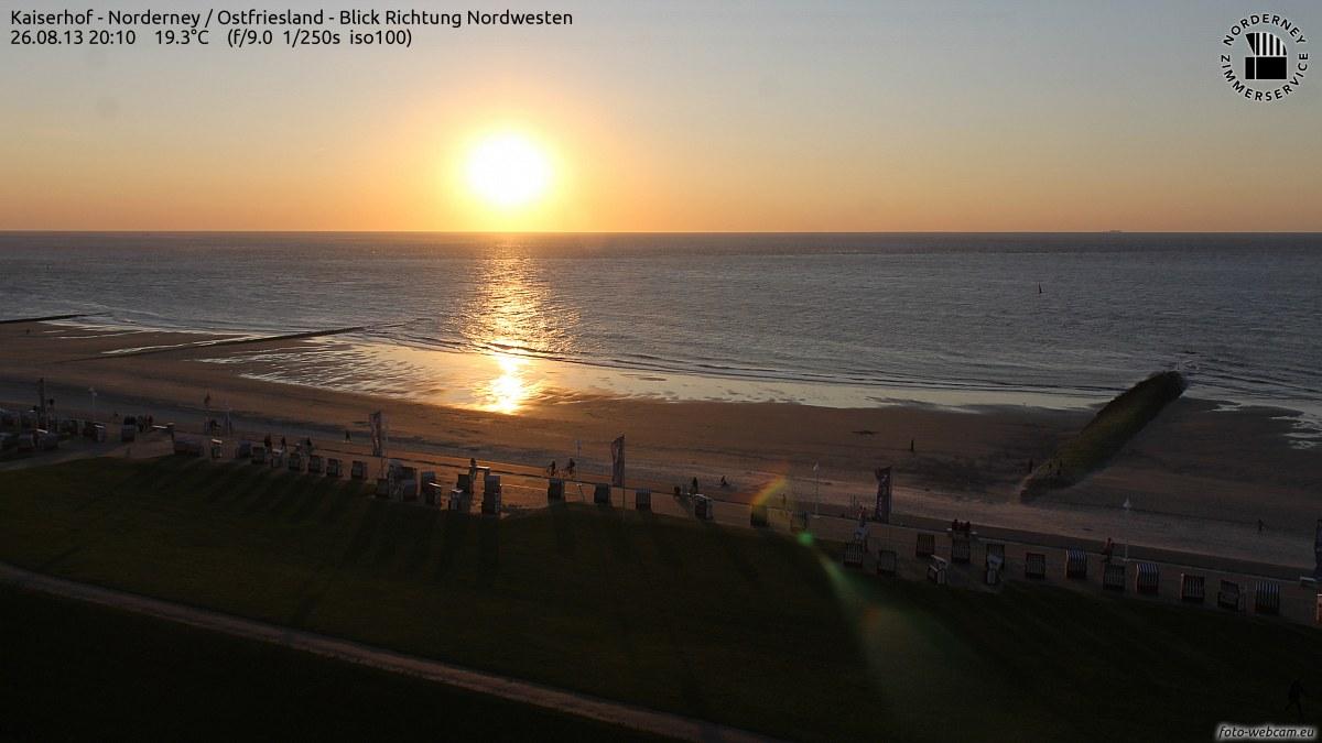 Sonnenuntergang am 26.8.2013