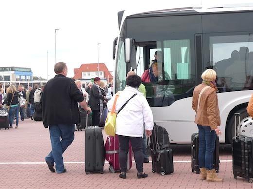 Hafen Chaos am Bus