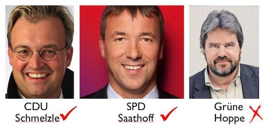 Kandidaten der Parteien