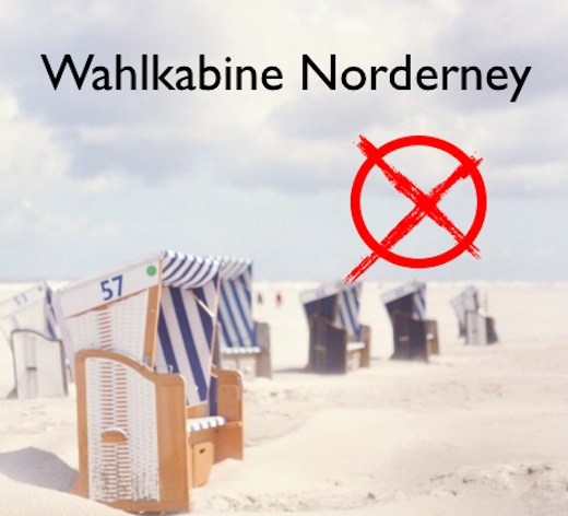 Wahlkabine Norderney