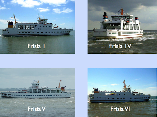 Frisia am 19.10. nach Norderney