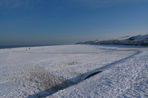 Nordstrand im Schnee