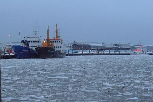 Norderney Hafen Packeis