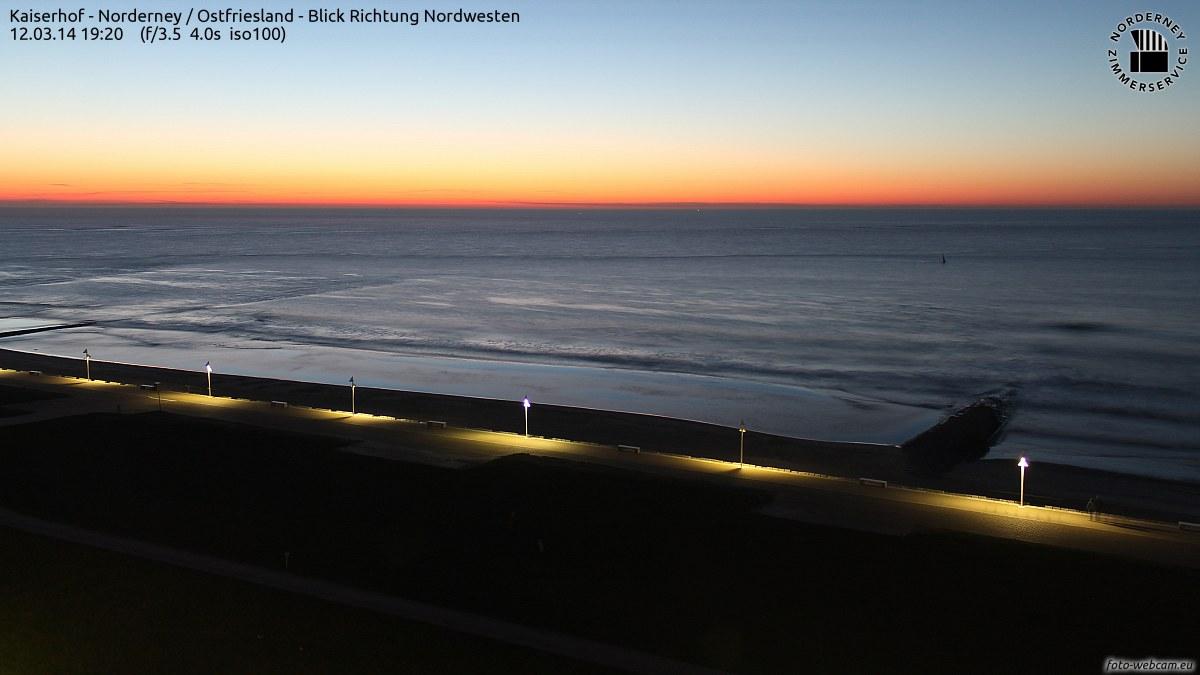 19:20 Sonnenuntergang Norderney
