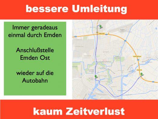 Stauumfahrung Emden City
