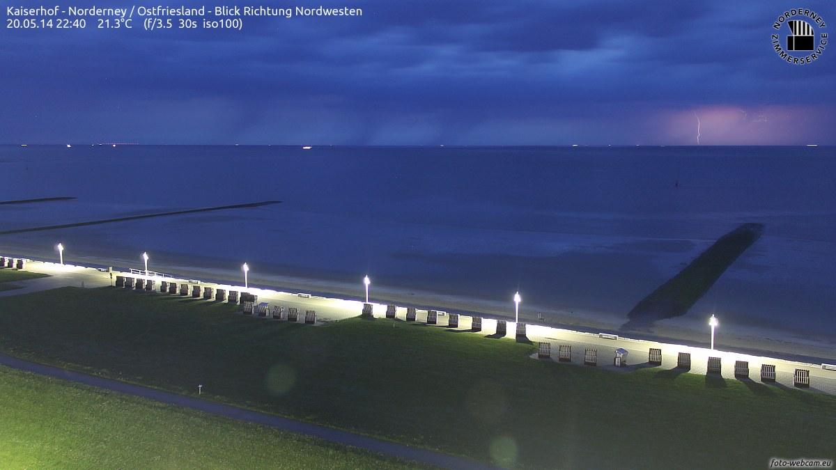 Gewitter auf Norderney um 22.40 Uhr