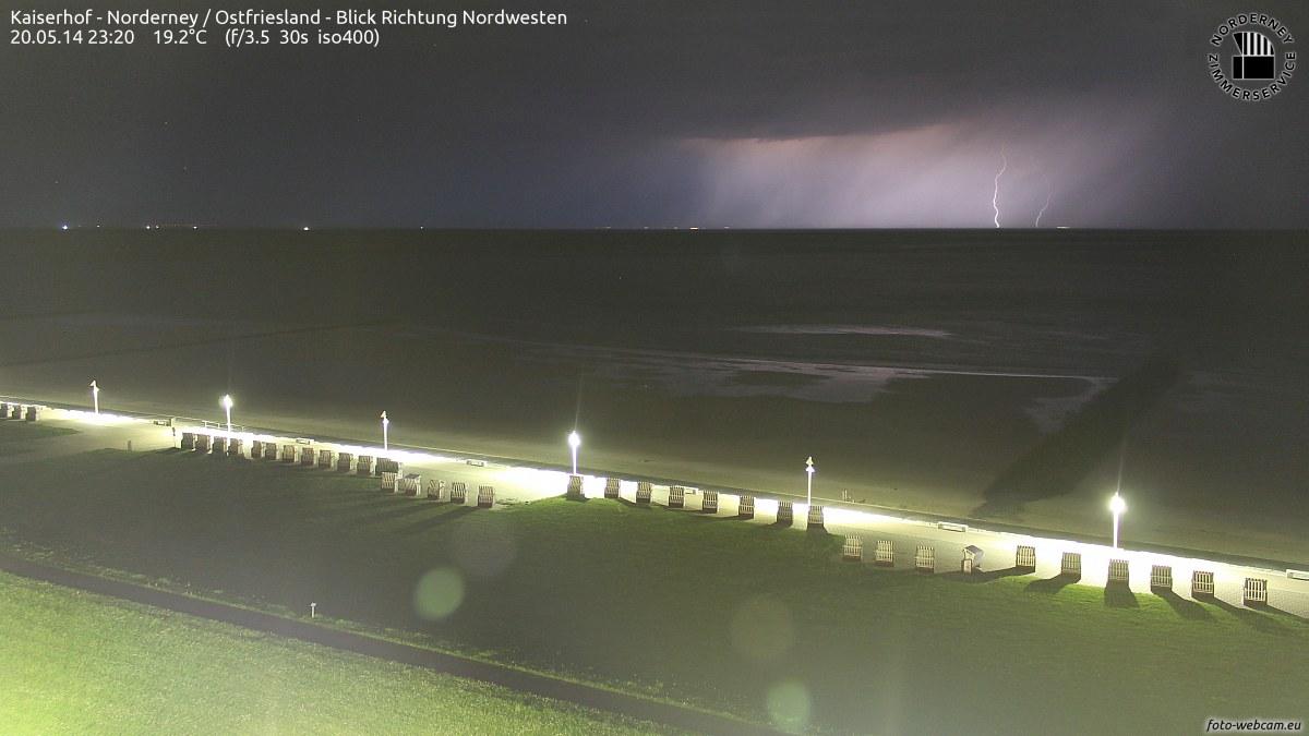Gewitter Norderney um 23.20 Uhr