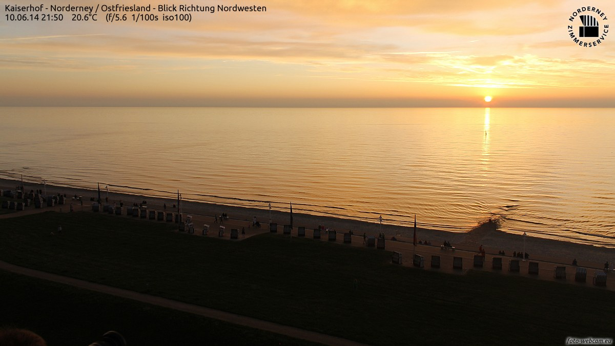 Norderney Sonnenuntergang um 22:00