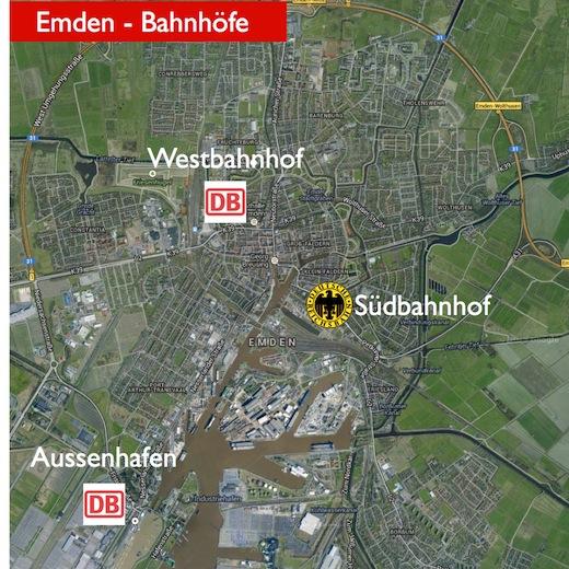 Bahnhöfe in Emden