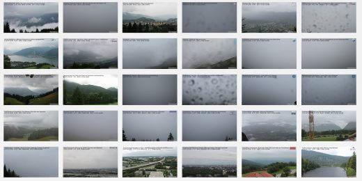 Alpen im Regen