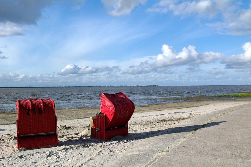 Norderney Strandkorb am Meer
