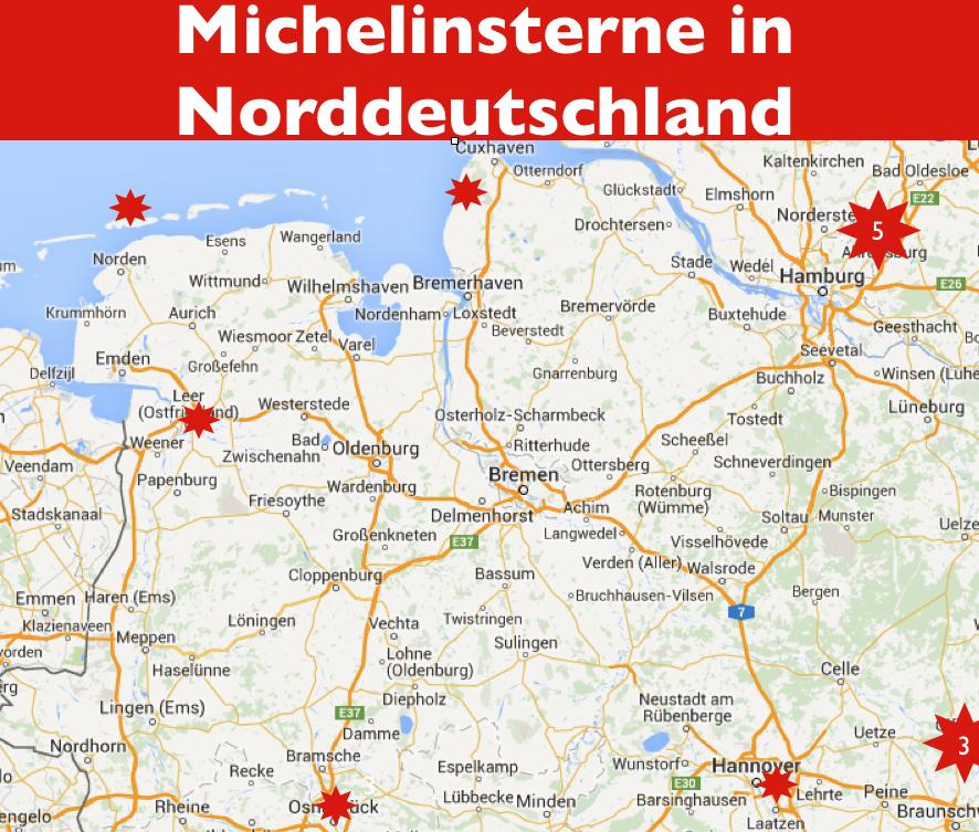 Michelinstern auf Norderney und in Norddeutschland