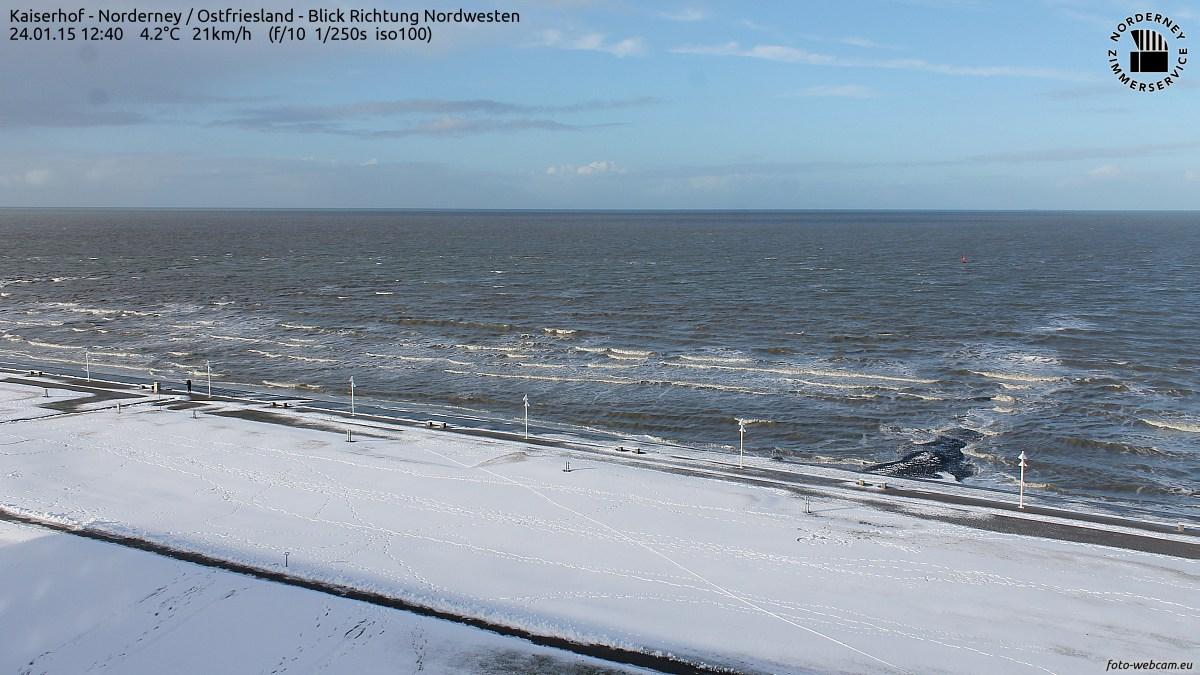 Wintereinbruch auf Norderney